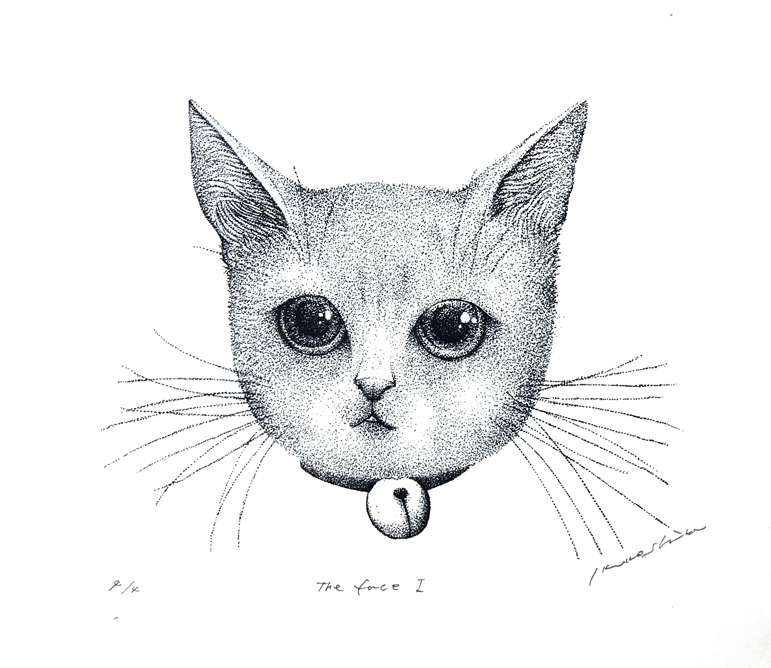 「猫」 The face Ⅰ w238×h210mm 2019 lithograph